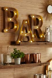 led equipped light bar pier 1 s led equipped marquee wall letters will help you make a