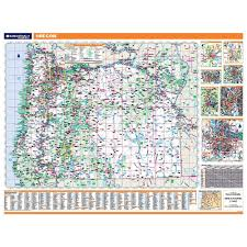 Map Of Oregon Cities And Towns by Oregon Laminated State Wall Map