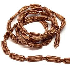 braided chain necklace images Vintage braided chain jewelry chain 05278 copper coat coil jpg