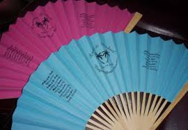 Hand Fan Wedding Programs Personalized Paper Folding Fans Printing Invites Cards