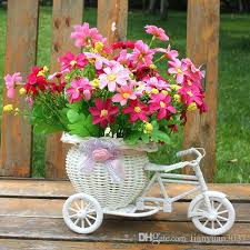 flower basket best quality white tricycle bike design flower basket storage