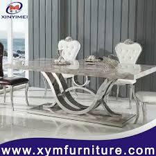 marble and stainless steel dining table buy cheap china stainless steel dining table with marble products