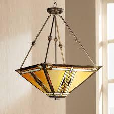 Mission Style Lighting Fixtures L Prairie Style Ls Loft Semi Flush Mount Ceiling Fixture