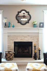 diy stacked stone fireplace surround mantels hearth decor tiles