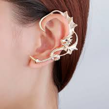 ear wraps ear wrap earring gold plated ear cuff in stud