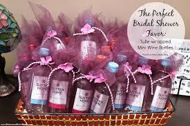 bridal shower decor favor of mini wine bottles shower