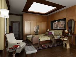 bedroom bedroom with art deco interior with wooden panel and