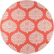 Coral Outdoor Rug Coastal Round Outdoor Rugs Rugs The Home Depot