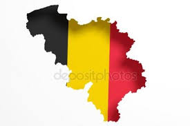 belgium map outline belgium map outline with belgian flag on white with shadows 3d