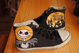 the nightmare before skellington sneakers a pair
