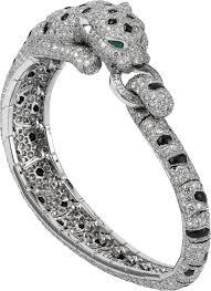 cartier bracelet diamond images Crhp601197 panth re de cartier bracelet platinum emeralds png
