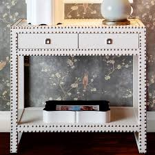 Accent Console Table Marco Nailhead Console Table In White From Poshtots Nailhead