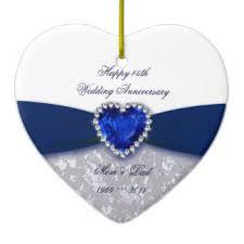 wedding anniversary ornaments 45th wedding anniversary ornaments keepsake ornaments zazzle