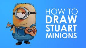 draw sutart minion minions easy step step video
