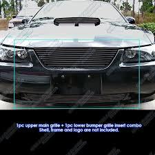 ford truck grilles 99 04 ford mustang black billet grille combo custom car truck
