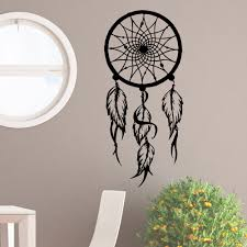 online get cheap hippie wall decals aliexpress com alibaba group big dreamcatcher vinyl sticker wall decal hippie native america dreamcatcher wall decals feathers home decor bedroom
