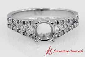 ring settings without stones antique princess cut and diamond ring without center
