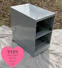 spray paint kitchen cabinets high gloss chalkboard paint file cabinet livelovediy spray paint