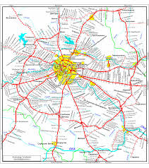 Moscow Map Russian Subway Railway And Tram Maps