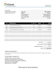 19 blank invoice templates microsoft word