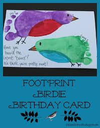 kitchen floor crafts footprint birdie birthday card