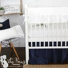 Navy Nursery Bedding Farmhouse Baby Crib Bedding Sets Rustic Nursery Decor
