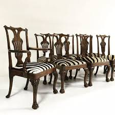 Zebra Dining Chairs George Ii Walnut Dining Chairs In South Zebra Hide Set