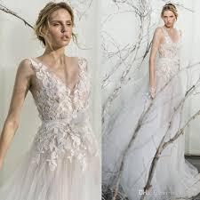 sleeveless wedding dress discount mira zwillinger 2017 illusion lace leaves wedding