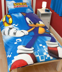 Duvet Covers For Single Beds Sonic The Hedgehog Spin Panel Single Bed Duvet Cover Set For My