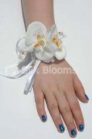 white orchid corsage gorgeous white orchid wedding wrist corsage w crystals