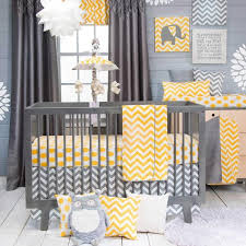 Zig Zag Crib Bedding Set Nursery Beddings Gray And Yellow Zig Zag Crib Bedding Together