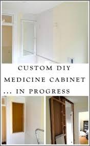 Bathroom Medicine Cabinets Recessed Wood Recessed Medicine Cabinet Foter