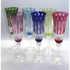 set bicchieri louis set 6 bicchieri flutes in cristallo 6 colori