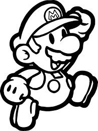 paper mario coloring pages qlyview com