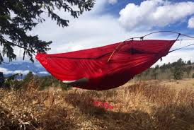 the bivy sack that hangs like a hammock versatile and lightweight
