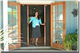 Sliding French Patio Doors With Screens Retractable Screen For Outswing Patio Door Doors Pinterest