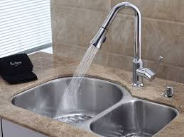Faucet  Contemporary Brushed Nickel Kitchen Faucet Design Ideas - Sink faucet kitchen