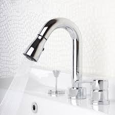 designer bathroom fixtures pull out widespread modern bathroom faucets