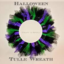 craft a spell halloween tulle wreath