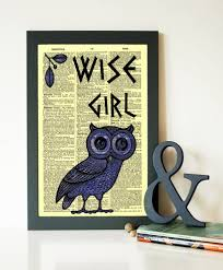 Wise Decor by Percy Jackson Mark Of Athena Wise Owl Dictionary Print Percy