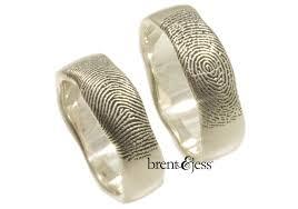 fingerprint wedding band brent jess fingerprint wedding rings ruffled