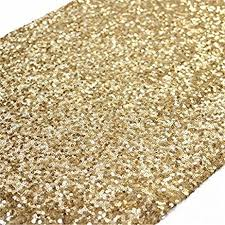 amazon com trlyc 12 by 108 inch elegant rectangle gold sequin
