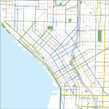 Chicago Bike Map Map Downtown Seattle Chicago Map