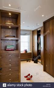 colour day interior bedroom dressing room wooden dark wood pair of