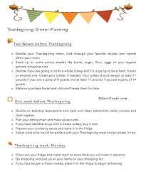 thanksgiving dinner planner potluck meal shopping list 2014