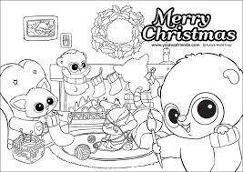 yoohoo friends christmas colouring pages coloring