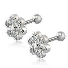 surgical steel stud earrings aliexpress buy fashion 16g earrings stud for women