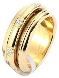 piaget ring piaget yellow gold 18k diamond g34pl350 us 7 25 ring tradesy