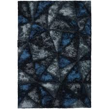 Blue Grey Area Rugs Chandra Flemish Blue Grey Charcoal 5 Ft X 7 Ft 6 In Indoor Area