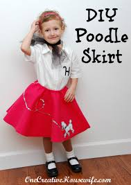 poodle skirt halloween costume one creative housewife 50s day poodle skirt tutorial